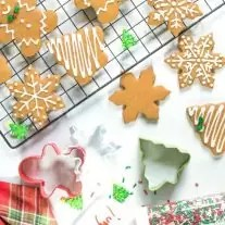 gingerbread Christmas cookies and holiday cookie cutters