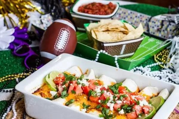 game day table enchiladas