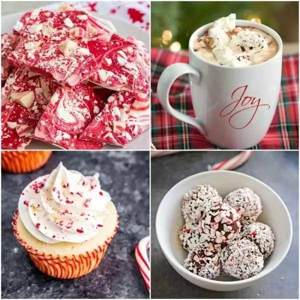 Peppermint dessert from peppermint bark to peppermint hot chocolate