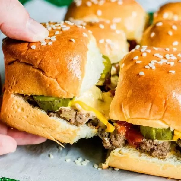cheesy big mac sliders