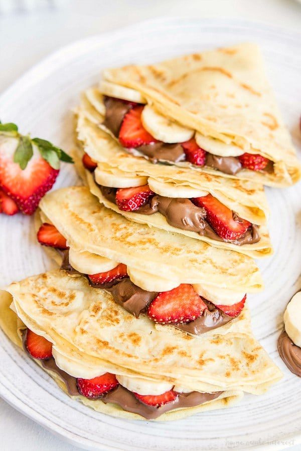 Homemade Crepes With Nutella Hazelnut Spread Home Made Interest