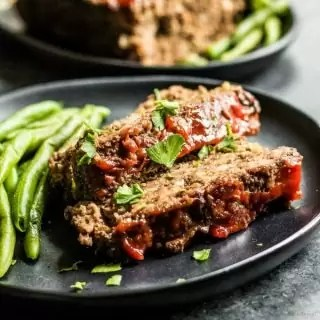 sliced meatloaf that is low carb