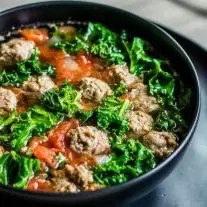 easy low carb soup with sausage and kale