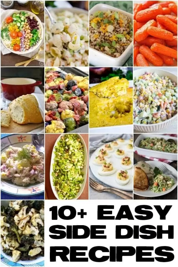 A collage of easy side dish recipes