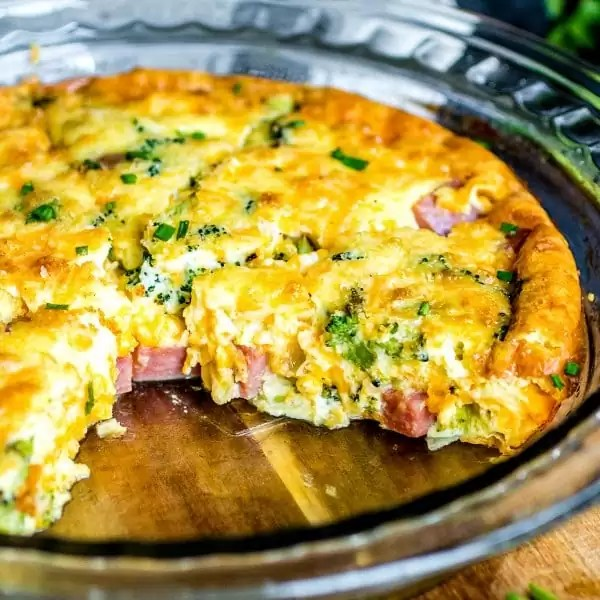 Low Carb Ham And Cheese Crustless Quiche Home Made Interest