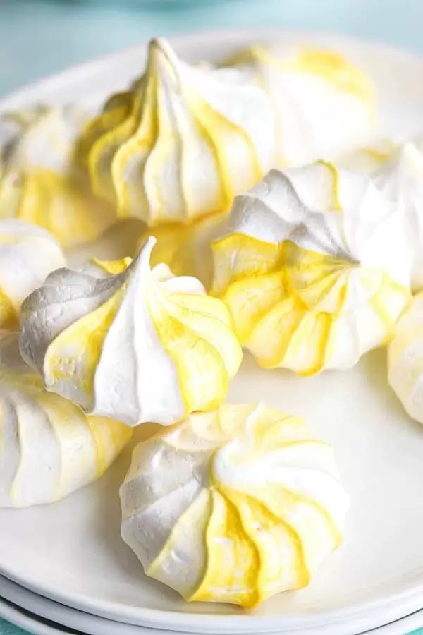 bite size lemon meringue cookies
