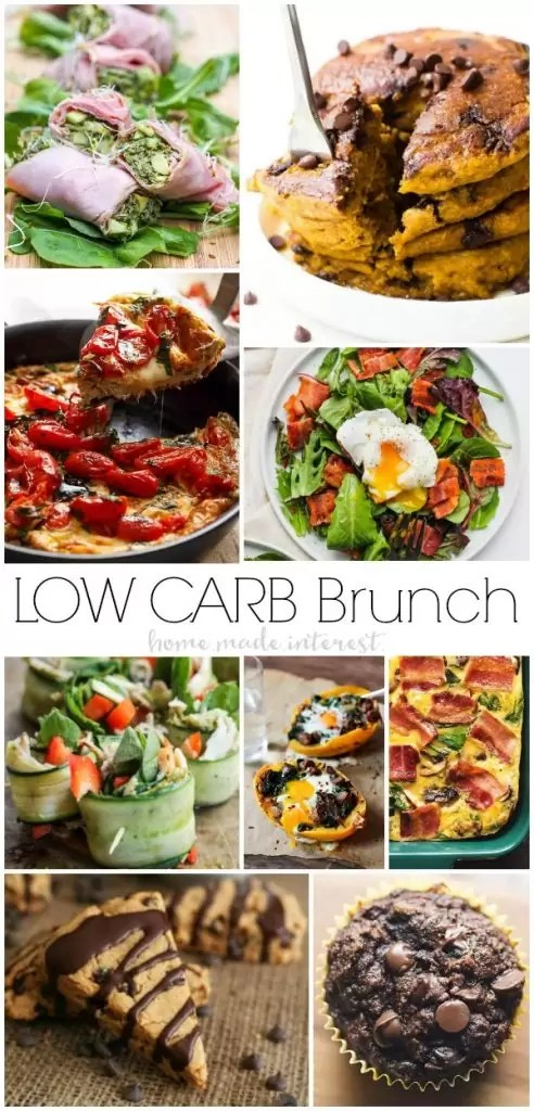 Low Carb brunch ideas and recipes for the perfect brunch on Mother's Day. Low Carb breakfast and low carb brunch recipes for quiche, low carb casseroles and even low carb drinks ideas.