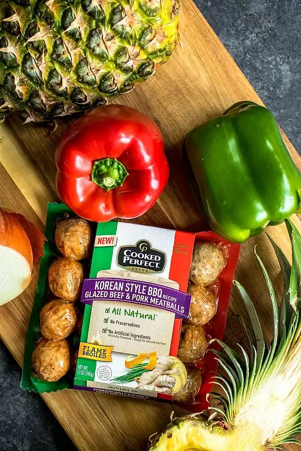 bell peppers and meatballs