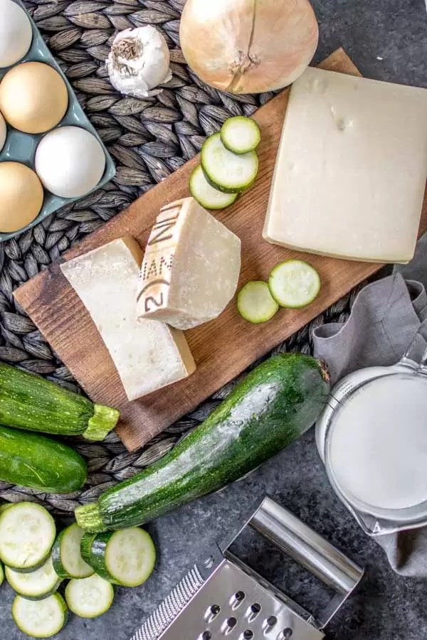 ingredients for make baked zucchini casserole