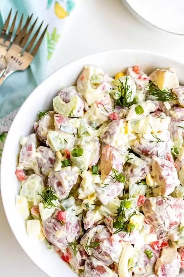 potato salad made with sour cream