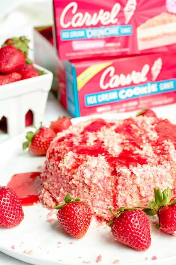 carvel ice cream strawberry crunchie cake