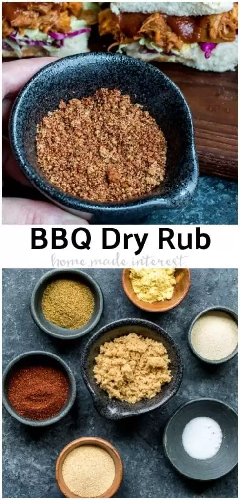 This easy BBQ dry rub recipe is one of my favorite spice mixes. It is guaranteed to make any BBQ a little better. Add this bbq dry rub to ribs, chicken, pork, or even beef brisket the next time you are grilling. You can also use it on crock pot or slow cooker BBQ recipes. #bbq #grilling #ribs #homemadeinterest