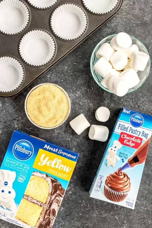 Pillsbury S'mores Cupcake