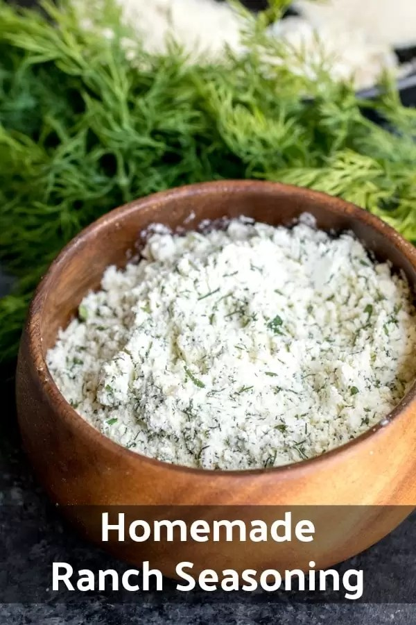 Forget the Ranch dressing packet this homemade Ranch Seasoning is easy to make and much more healthy than that packaged stuff. Make this simple Ranch seasoning in bulk and never be without ranch flavor again! Add it to your soups, meats, veggies, and combine it with sour cream and milk to make dips and dressings. #ranchdressing #ranch #homemade #fromscratch #dip #buttermilk #homemadeinterest