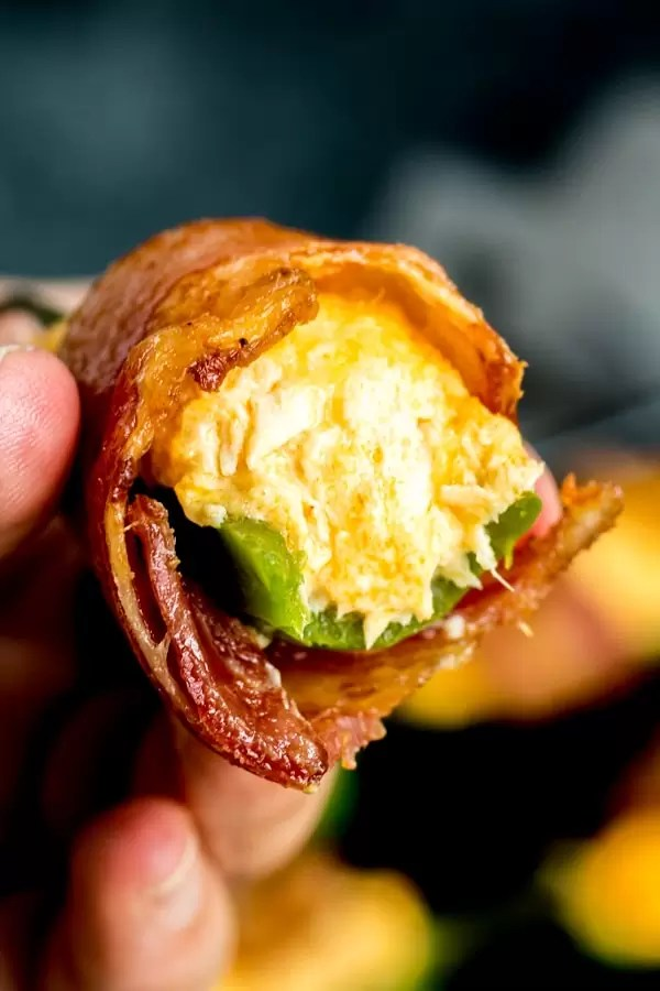 inside Buffalo Chicken Jalapeno Poppers