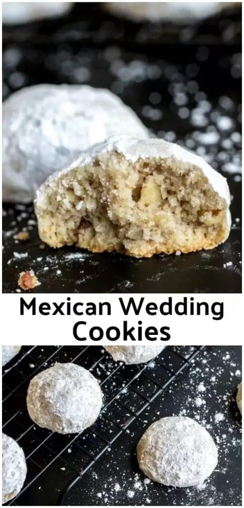 These are the BEST Mexican Wedding Cookies ! This is an authentic Mexican Wedding Cookies recipe that is a classic Christmas cookie recipe. Make these cookies for a Christmas cookie exchange. Mexican Wedding Cookies are made with finely chopped pecans and tossed in powdered sugar to make them look like delicious snowballs! #christmascookies #cookies #pecans #baking #homemadeinterest