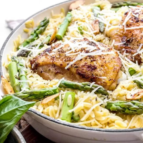 easy One Pot Parmesan Chicken & Orzo