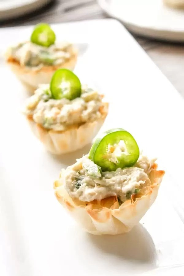 Chicken Jalapeno Popper Cups on a platter