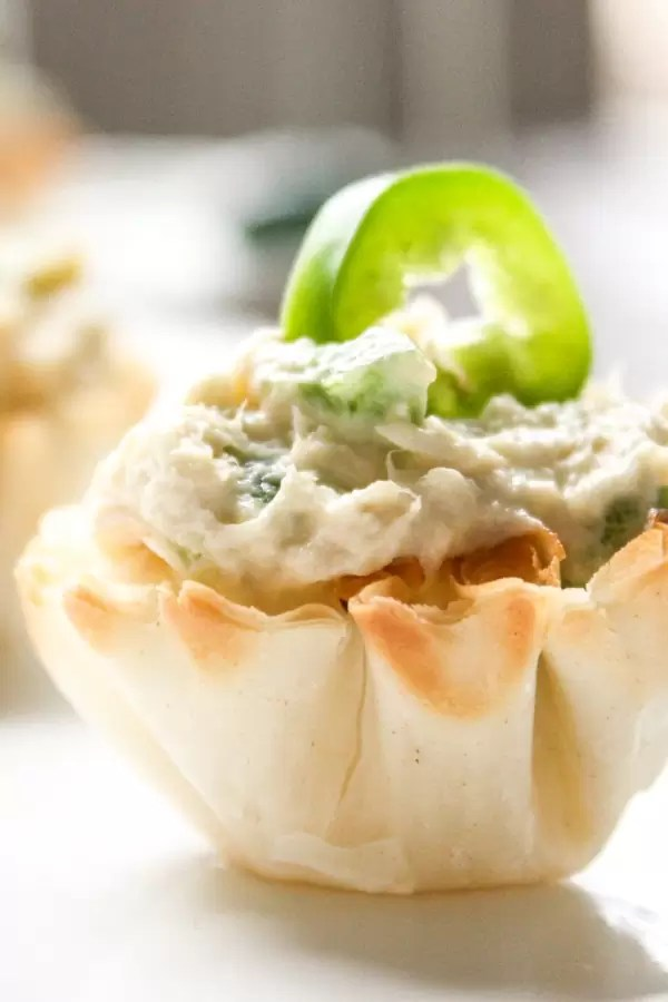 Chicken Jalapeno Popper Cups appetizers
