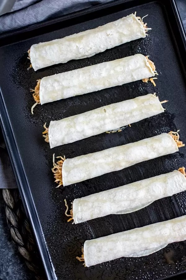 Sheet pan Chicken Taquitos