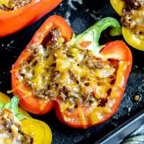 Mexican Stuffed Peppers with ground beef