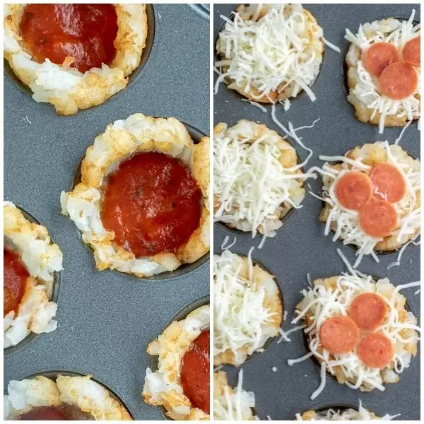 how to make Pizza Tots appetizer