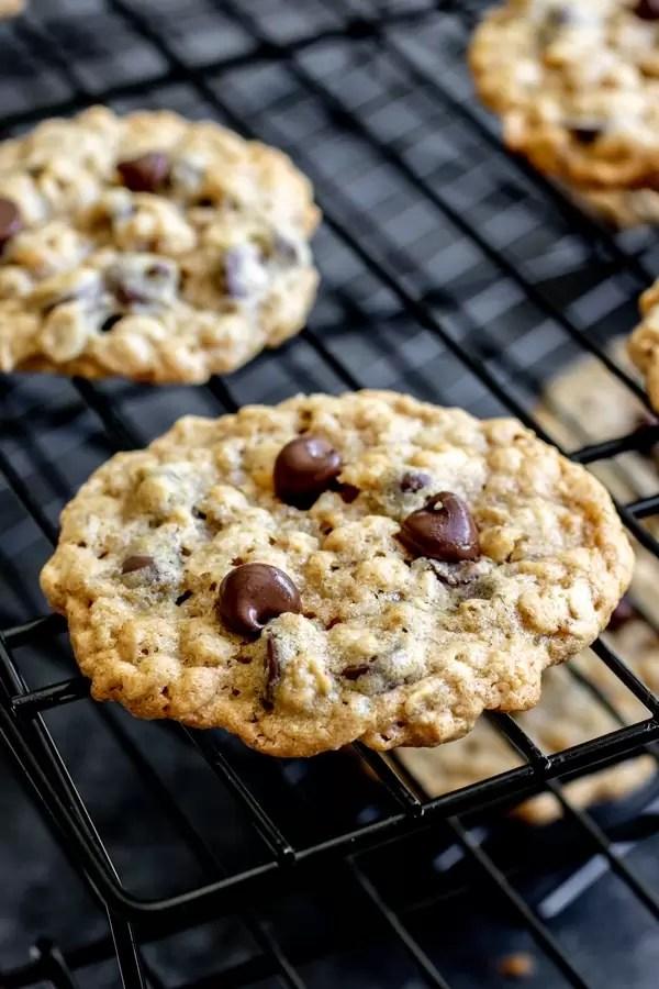 Ranger cookies on cookie rack