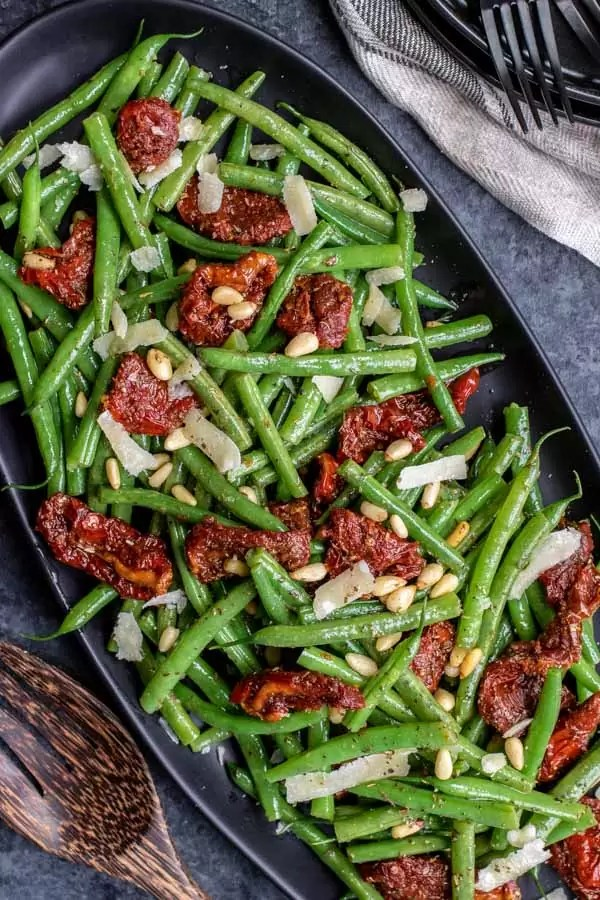 Italian Green Bean Salad with pine nuts