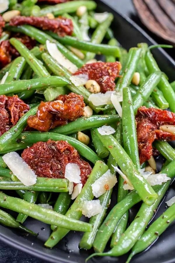 Italian Green Bean Salad with sun dried tomatoes