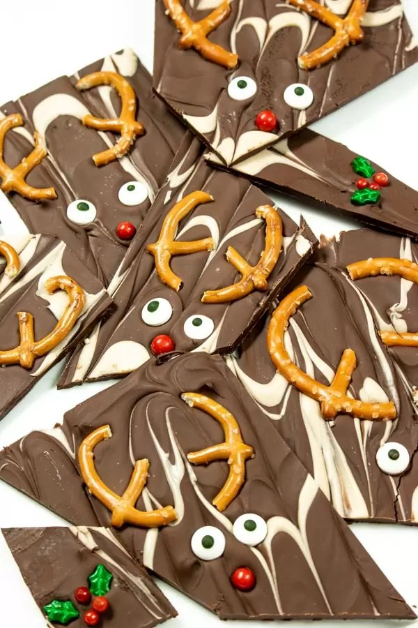 chocolate and caramel Christmas Bark