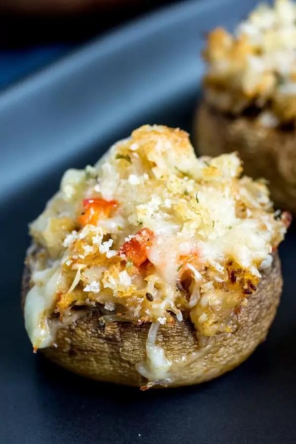 bite size Crab Stuffed Mushrooms