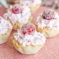 Cranberry Cheesecake Bites made with fluff
