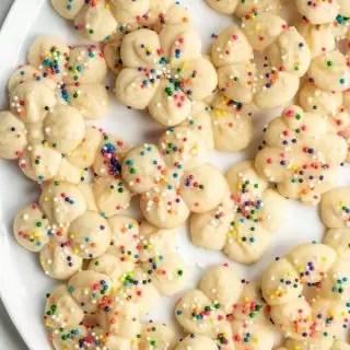 platter of Cream Cheese Spritz Cookies