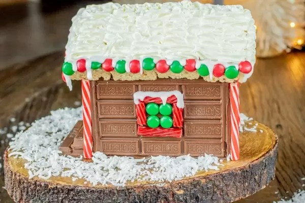 Holiday Candy Cabin wall