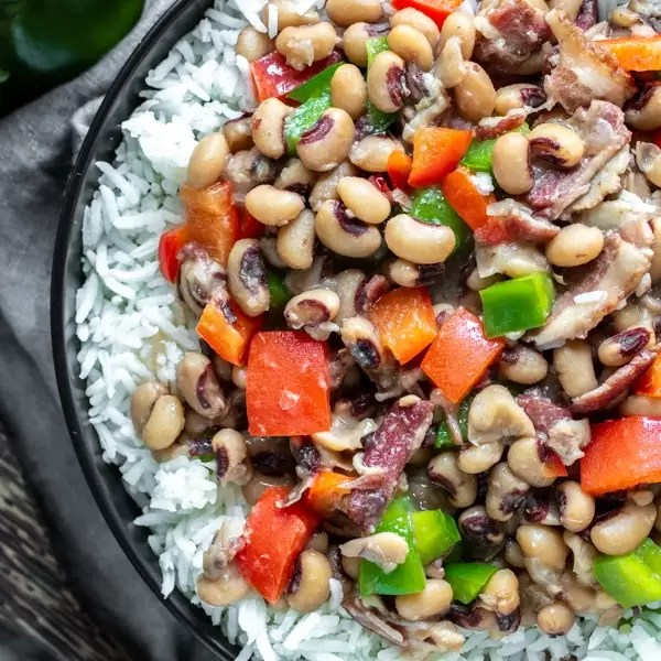 Instant Pot Hoppin' John New Year's meal