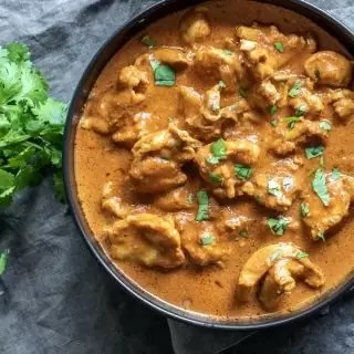 bowl of Instant Pot Low Carb Butter Chicken