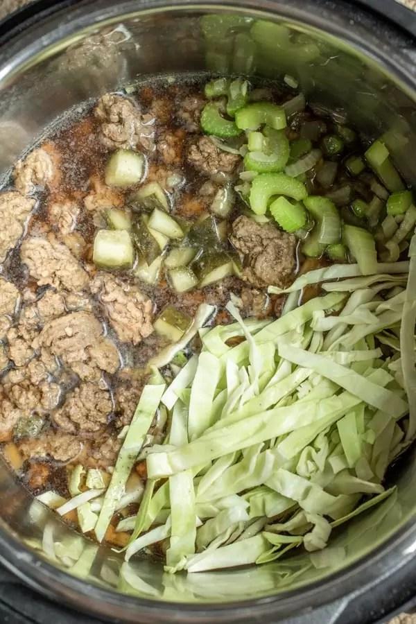 How to make Instant Pot Big Mac Soup