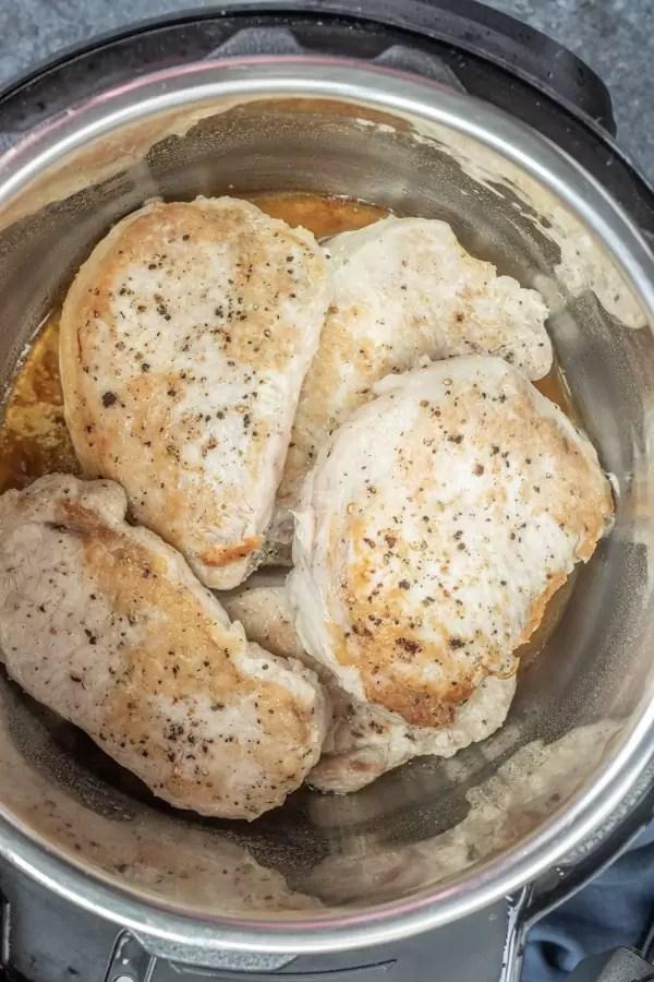 how to make Instant Pot Pork Chops with Mushroom Gravy