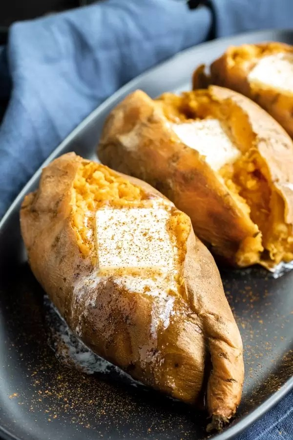 Instant Pot Sweet Potatoes with melted butter