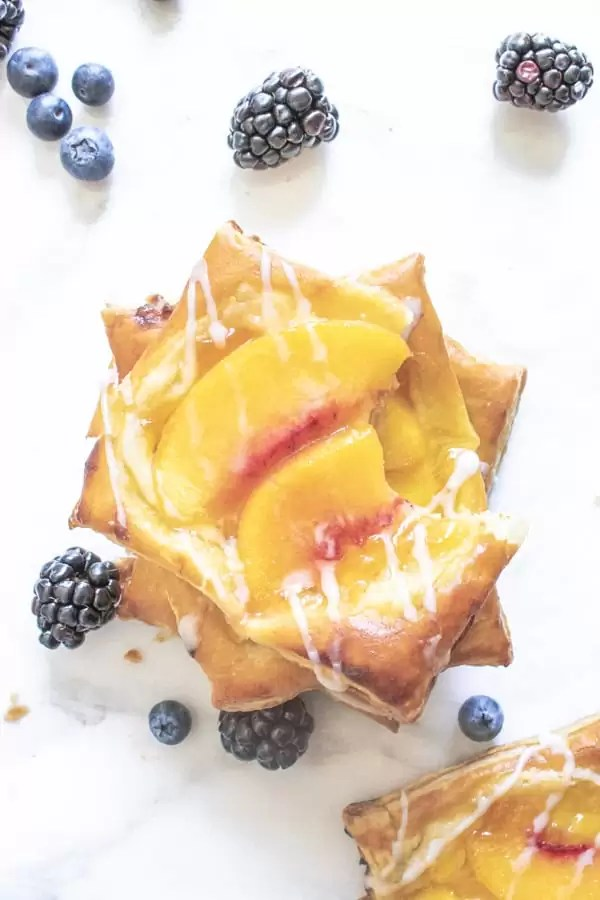 Peach Cream Cheese Danish dessert