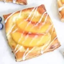 easy brunch dessert Peach Cream Cheese Danish