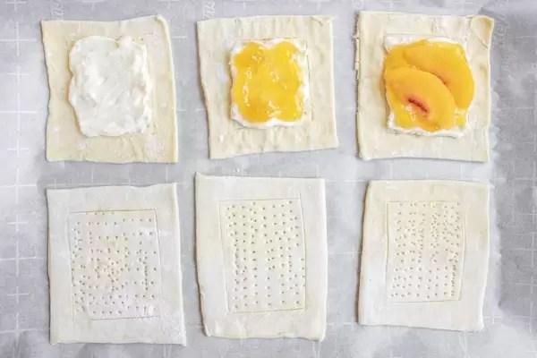 steps to make Peach Cream Cheese Danish