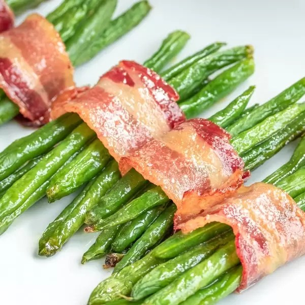 Bacon Wrapped Green Beans bundles
