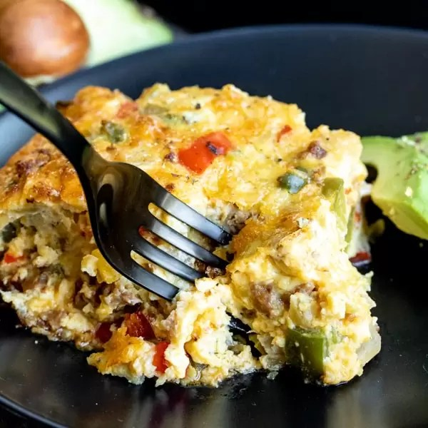 brunch casserole Chorizo and Peppers Crustless Quiche that is keto