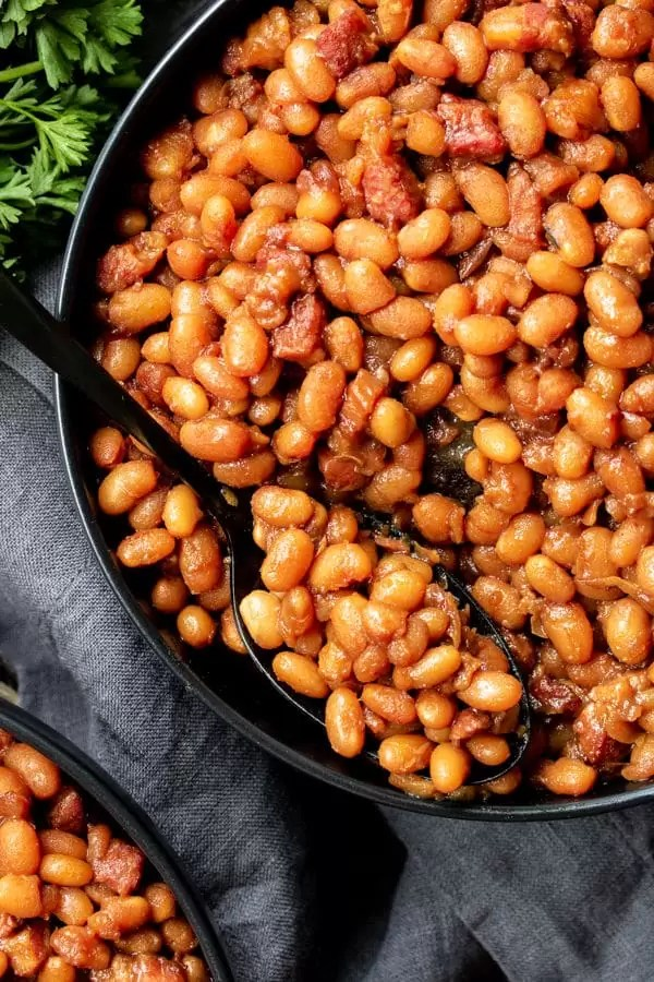 Instant Pot Baked Beans for potluck summer parties