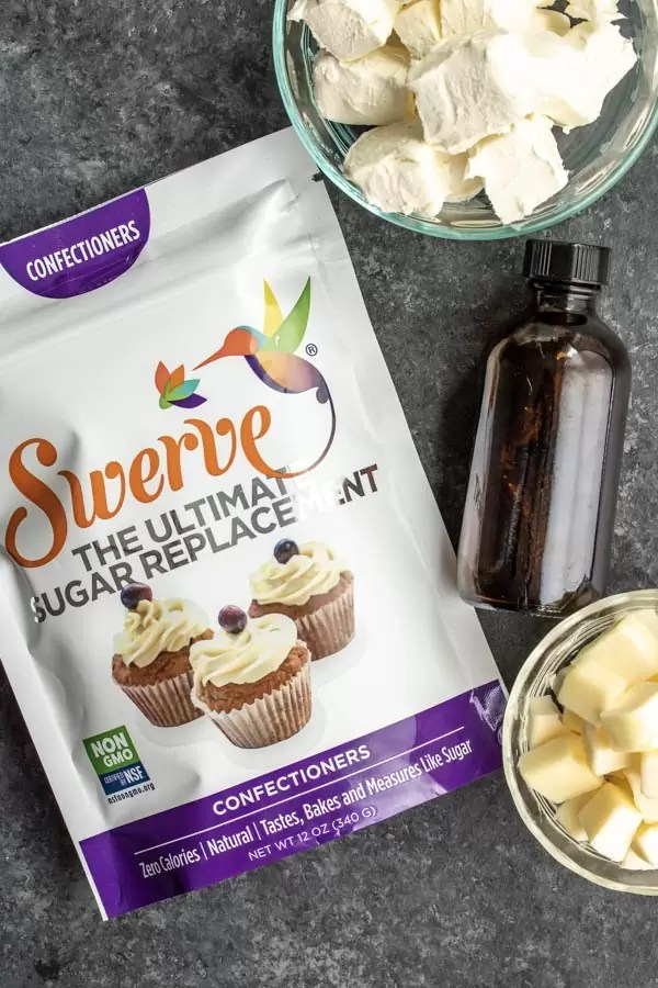 how to make Keto Cream Cheese Frosting using Swerve