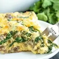keto Sausage & Spinach Crustless Quiche