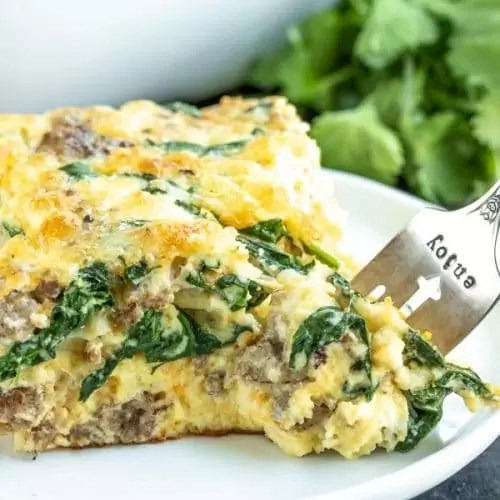 Sausage And Spinach Crustless Quiche Low Carb Keto Home Made Interest