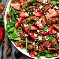 Strawberry & Spinach Salad with balsamic dressing