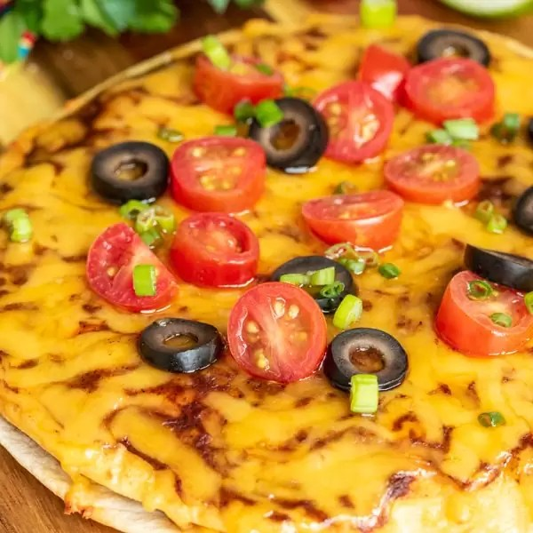 Mexican Pizza with cheese